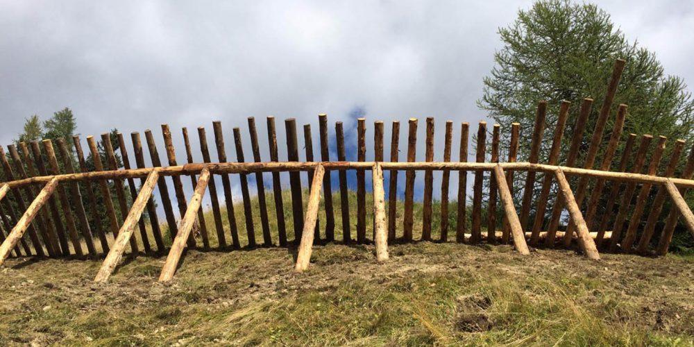 Rastrelliere difensive per rischio valanghivo Passo Pordoi