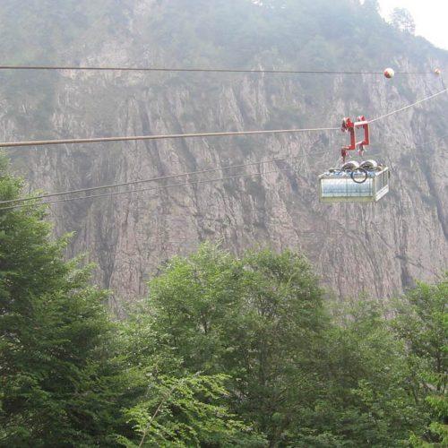 Teleferica al rifugio Settimo Alpini